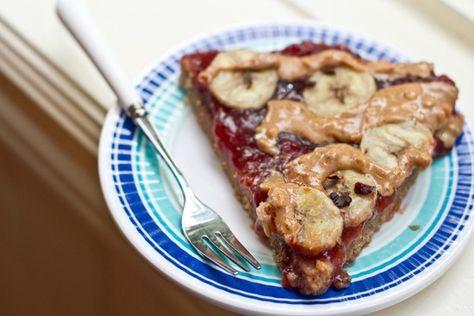 Peanut Butter, Jam, & Banana Breakfast Pizza