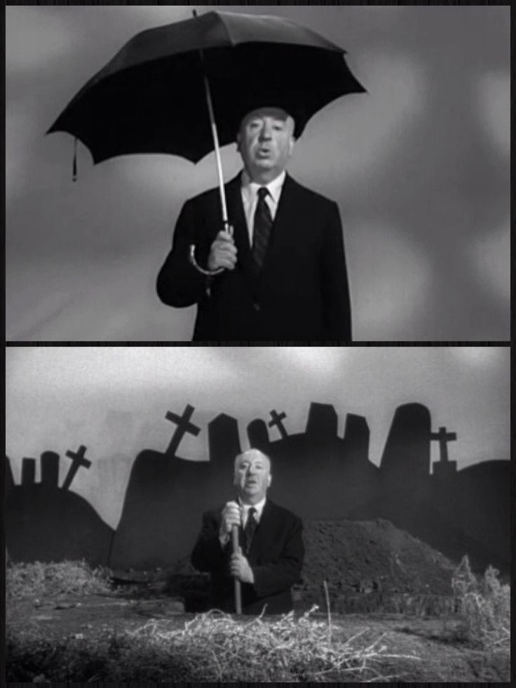 """Alfred Hitchcock Presents (1955-1962, then called The Alfred Hitchcock Hour from 1962-1965) - The familiar """"plink, plink"""" of the theme song, accompanied by the line drawing of a man in profile immediately identifies the show as """"Alfred Hitchcock Presents/Hour."""" The famed director opens almost every episode with the words """"Good evening ..."""" After a joke -- usually about the evening's sponsor -- Hitchcock lays the groundwork for that episode's freestanding story of suspense and terror."""