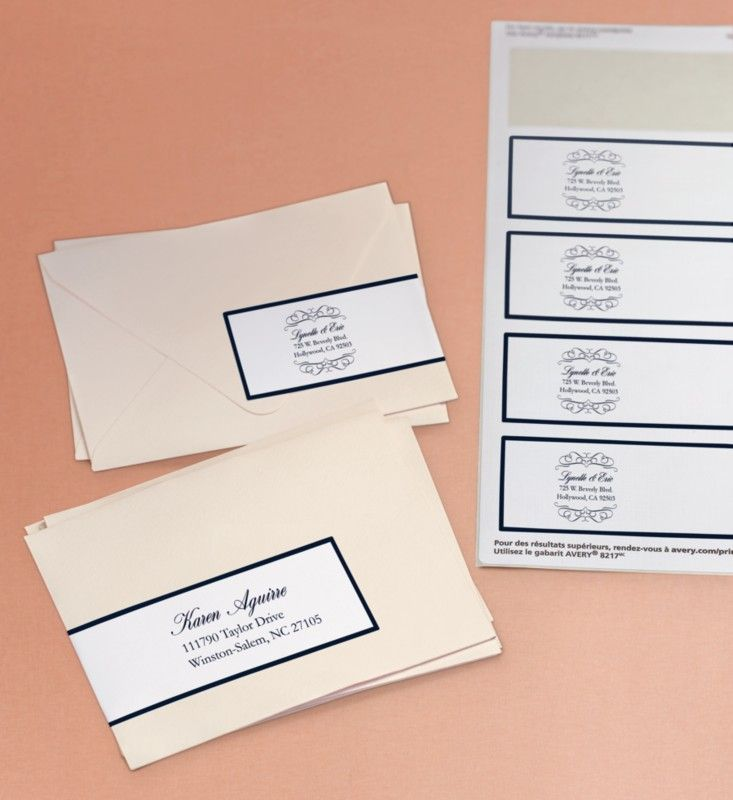 Avery Wraparound Labels add an elegant touch