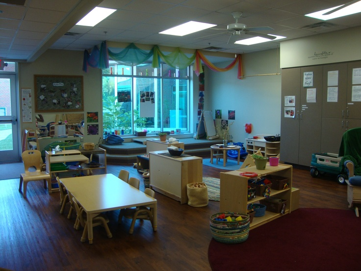 View as you come into the classroom.