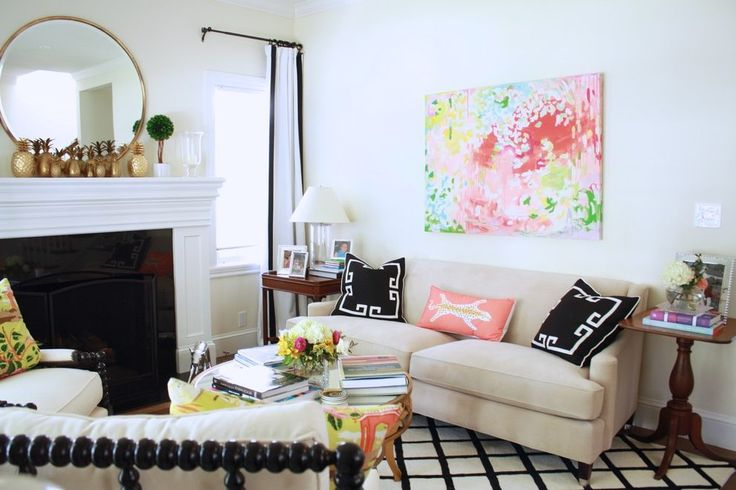 red brick fireplace living room eclectic with lucite table