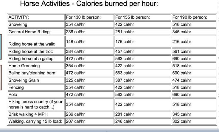 Print this and whip it out next time someone is bold enough to tell you that horseback riding isn't exercise.