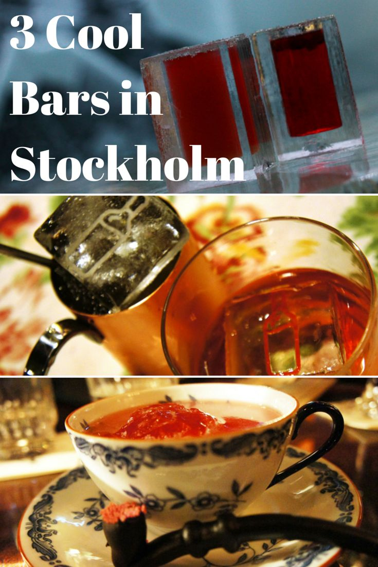 Three cool bars in Stockholm for a cocktail, including the cooler than cool ICEBAR. #Stockholm #Sweden