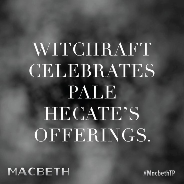 """""""Witchcraft Celebrates Pale Hecate's Offerings."""""""
