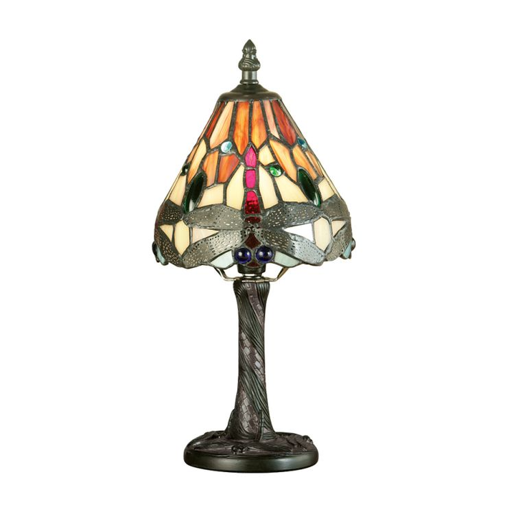 Dragonfly Mini Tiffany Style Flame Table Lamp   Interiors 1900 64100