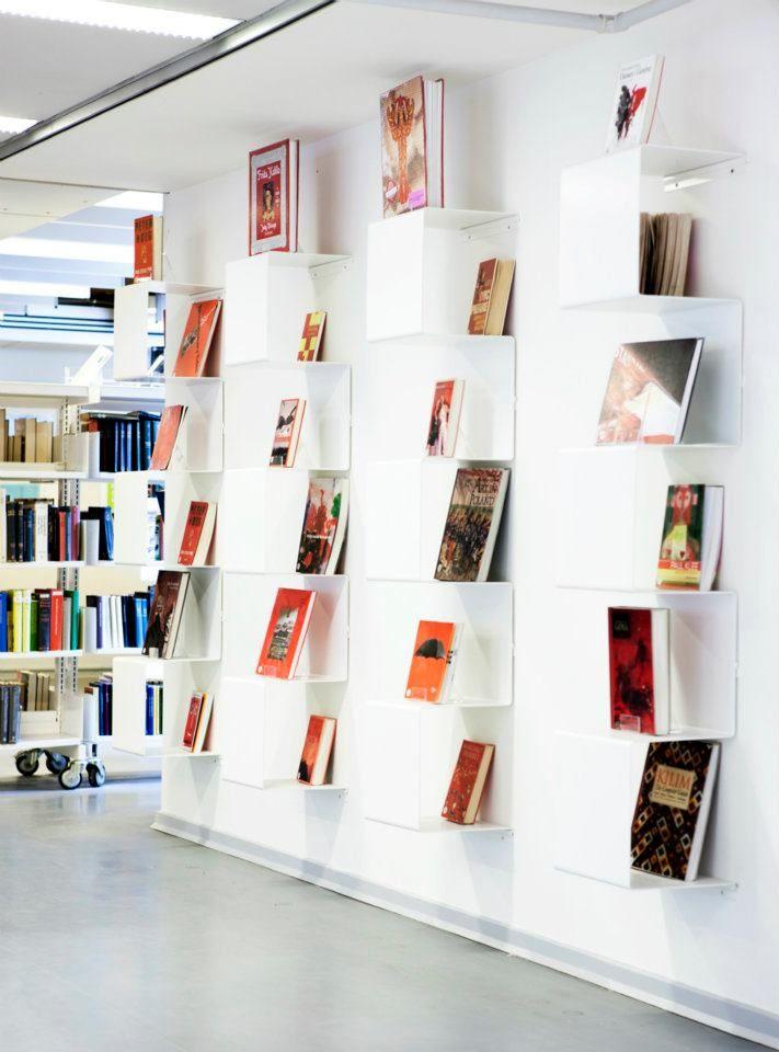 Showcase no. 1 bookshelves at Copenhagen Main Library - Anne Linde