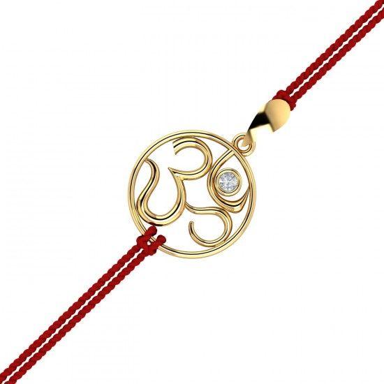 GOLD OM RAKHI PENDANT.Send gold Om Rakhi pendant for your brother this Raksha Bandhan. Let this spiritual symbol bless him with its energy.#Rakhi #GoldRakhi #GoldandDiamond #RakhiCumPendant #RakhiGift #GiftforBrother #SpecialRakhiGift #RakshaBandhan #18thAugust #RakhiCelebration #OmRakhiForBhai #OmPendant #BrotherSisterBond #Kuberbox #ShopRakhiOnline  #OnlineJewellery