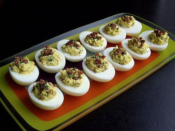 17 best images about madmen inspired housewarming on for Table 52 deviled eggs recipe