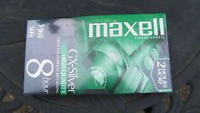 Set of 10 Maxell GX-Silver High Quality NEW Blank VHS Video Tapes T-160 8hr
