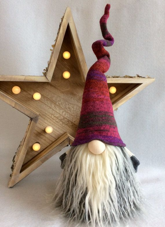 Original Nordic Gnomes by DaVinciDoll Designs© Swedish Norwegian TOMTE NISSE GNOME or SANTA can be Christmas Decor or all year round Decoration! Features bendable hat and arms to position any way you desire! Also added is a weighted bottom for extra stability! There may be slight
