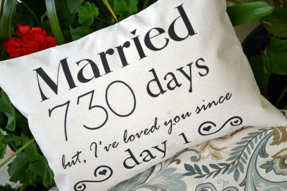 Unique Wedding Anniversary Gifts For Her: Personalized Pillow, Cotton Anniversary, Gift For Her