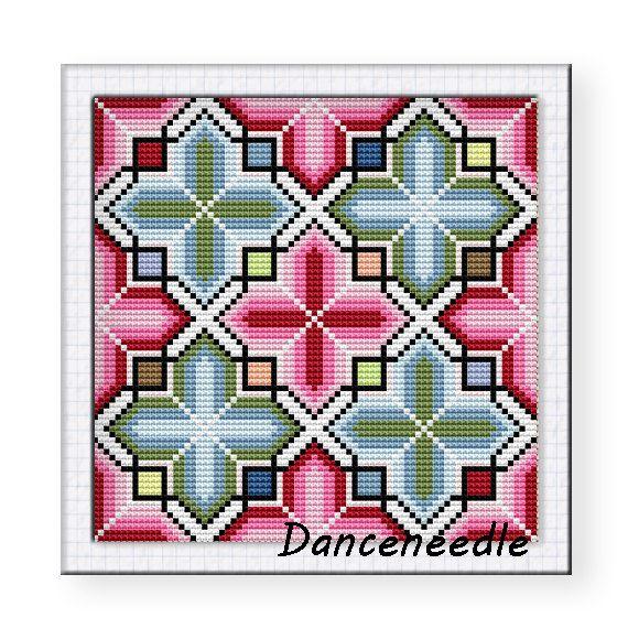 Cross-Stitch chinese pattern design, vintage, Minority style