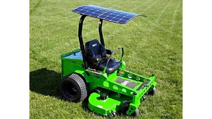 Solar powered commercial mower hits the market