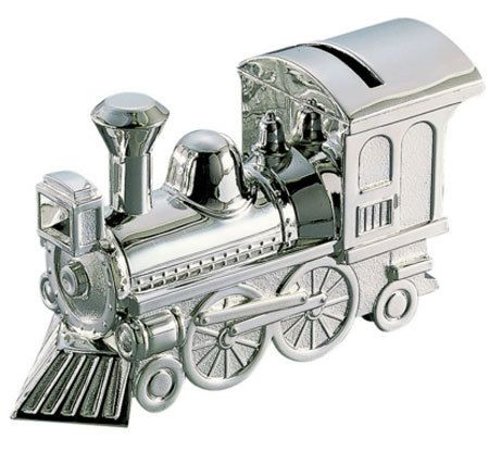 10 best personalized baby gifts images on pinterest personalized silver train personalized bank with polished finish negle Gallery