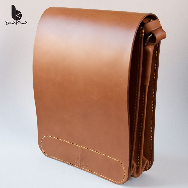 Handmade leather a cross - body bag by Brano Klocan LEATHERCRAFT  Ručne šitá kožená crosbody taška