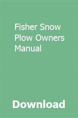 download fisher snow plow owners manual pdf fisher snow plow owners rh pinterest com