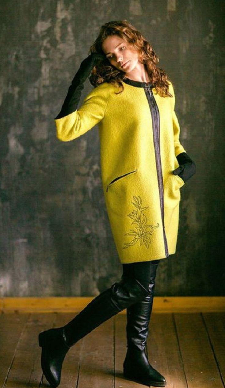 Пальто-кокон идеально подойдет для представительниц прекрасного пола с типом фигуры груша или яблоко.