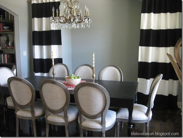 17 Best ideas about Stripe Curtains on Pinterest | Black white ...