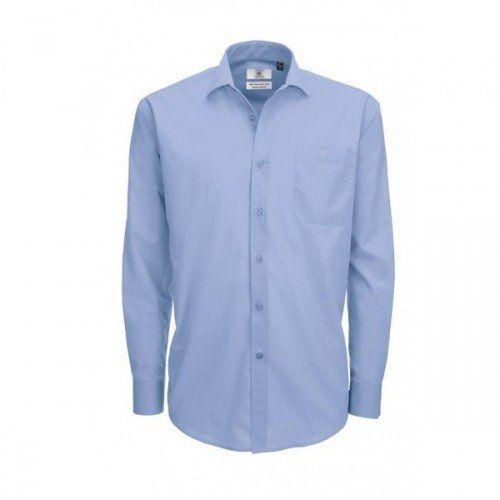 B&C Mens Smart Long Sleeve Poplin Shirt / Mens Shirts (3X…