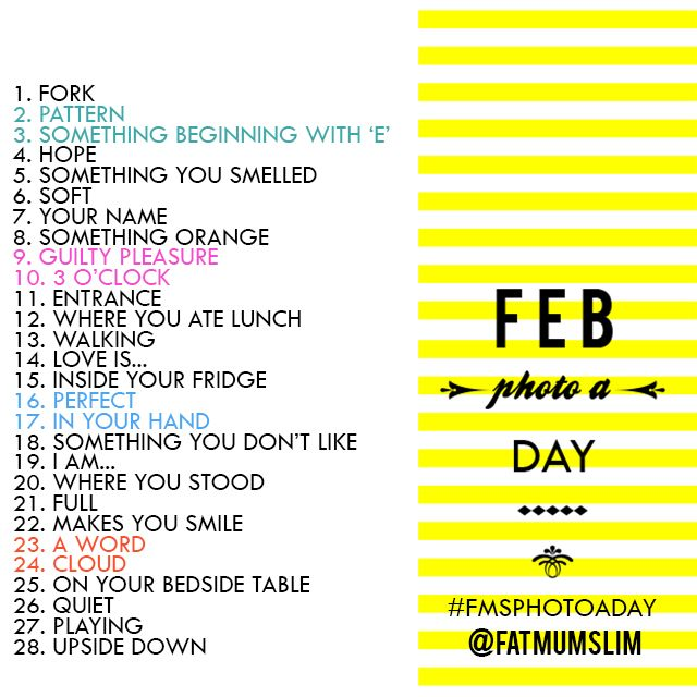 February Photo A Day Challenge