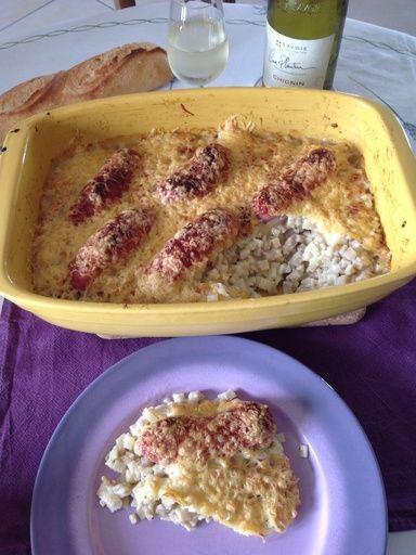 Diots de savoie et son gratin de crozet - Recette de cuisine Marmiton : une recette