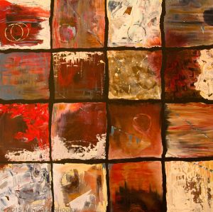 Chilli Chocolate by © 2015 Kendrea Rhodes - The second in the chocolate theme, Chilli Chocolate has taken on a life of its own due to the interpretations of a six year old in Scotland. He saw 16 views through the same window - this inspired a global activity to name each sqaure - what do you see?