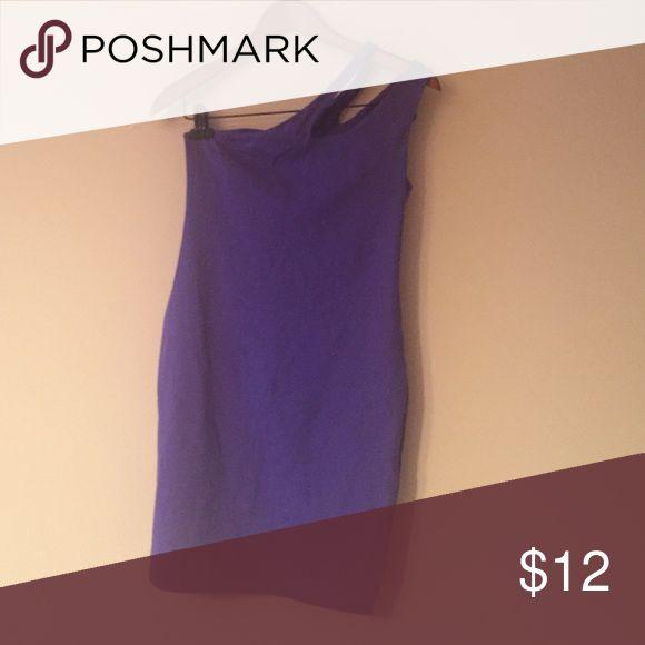 One shoulder purple body con dress. Worn a few times. Dresses One Shoulder