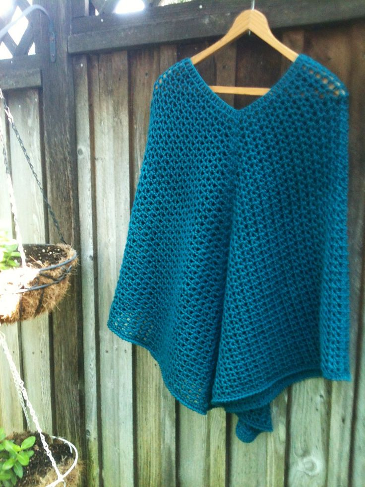 Summer Sunset Poncho By Annás - Free Crochet Diagram - Adult And Child Sizes - (ravelry)