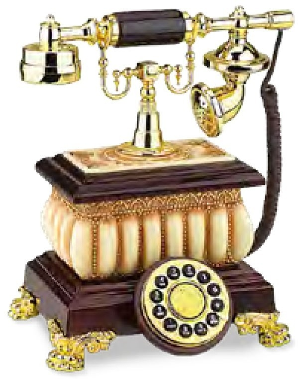 This old antique style telephone has an old fashioned charm of its own. If you're into all things antique, you'll love this old telephone. For the home that's old Victorian or Edwardian style, this gorgeous telephone would fit in beautifully. Goes perfectly with old style or antique furniture and will add a special touch to your home decor.
