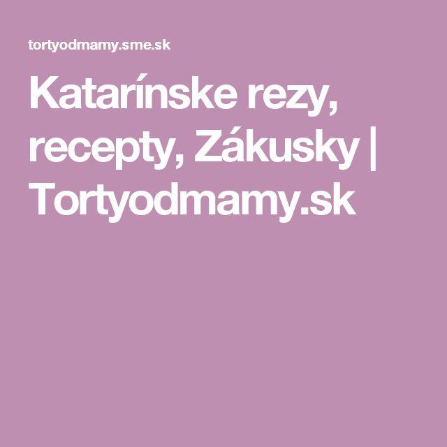 Katarínske rezy, recepty, Zákusky | Tortyodmamy.sk