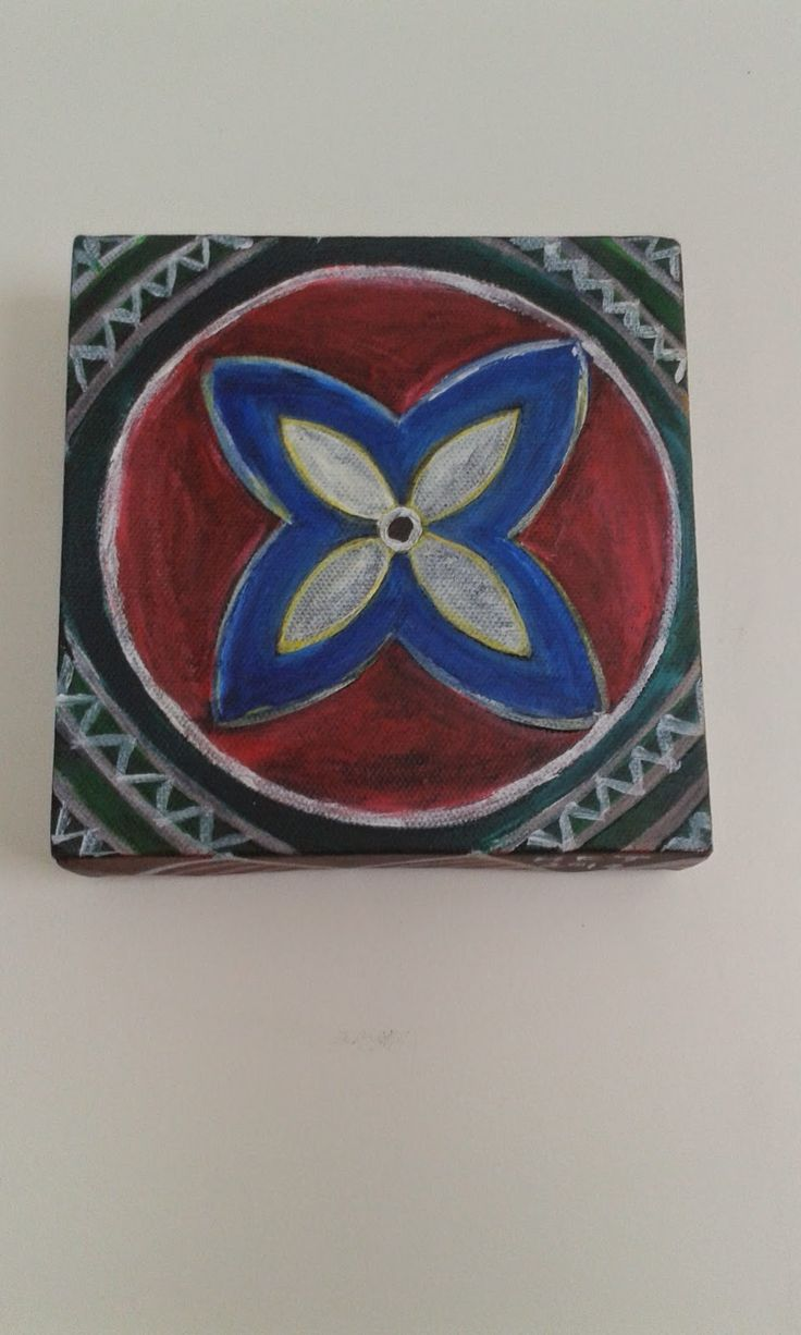 My Pasifika print with a 'distressed look'. Acrylics on canvas by Helen Tau'au Filisi (c) 2014