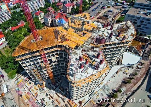 """Административное здание """"Филадельфия"""" (The Filadelfie Administration Building), проект DaM, Прага, Чешская Республика."""