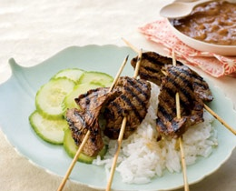 Indonesian Beef Satays with Peanut Sauce - kids will even like them ...