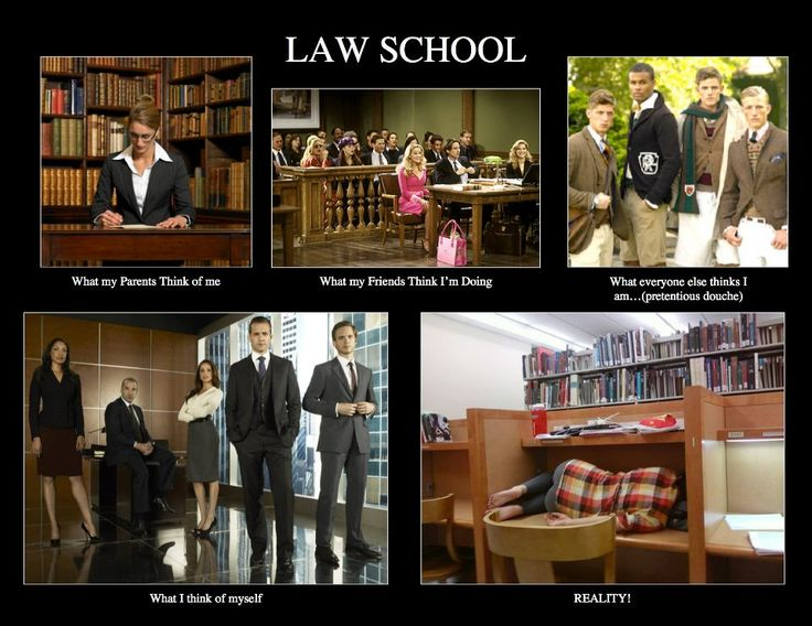 Law School. What I think of myself is more right than the reality haha right?!