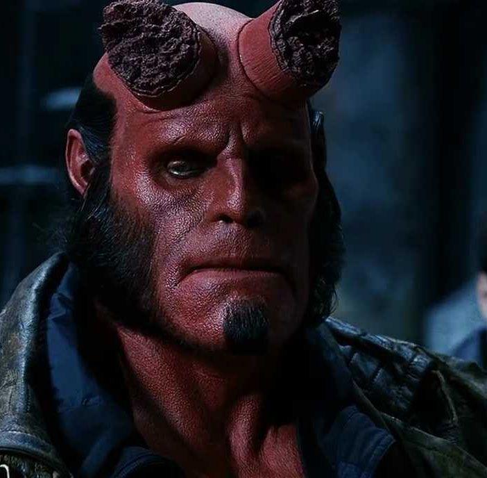 """Ron Perlman en """"Hellboy"""", 2004"""