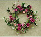 "KP Creek Gifts - Aster Daisy Wreath - 18"""