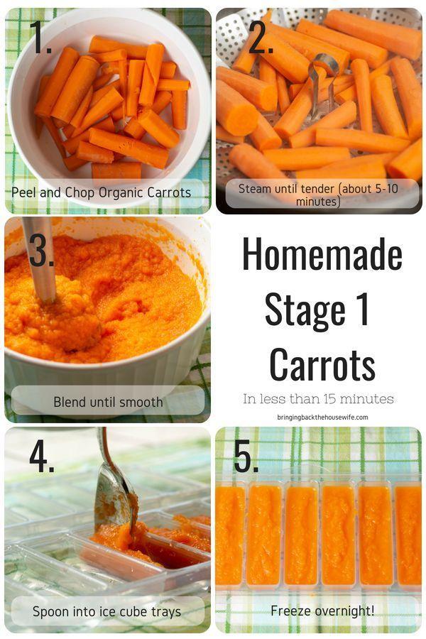 Homemade Stage 1 Baby Food Recipes Recetas De Comida Para Bebes