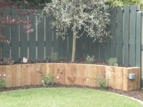 Pressure treated pine sleepers for raised bed gardening.