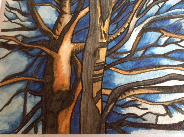 watercolour markers tree