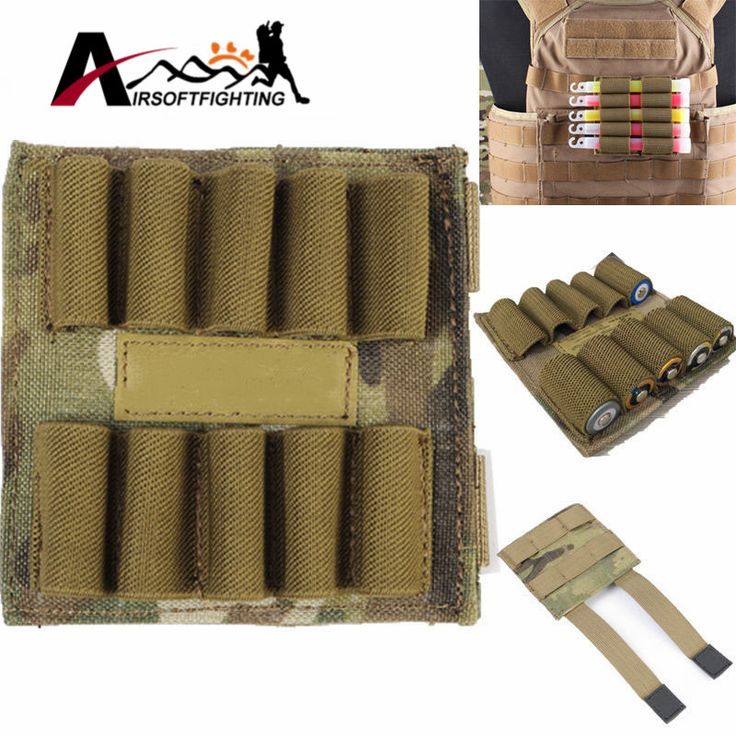 Tactical 1000D Molle Portable Pouch for Glowing Sticks  Battery MOLLE Version A Pouch Ten Holes Outdoor Camping Hunting