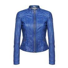 Hugo Boss Orange Janassila Leather JAcket - Blue