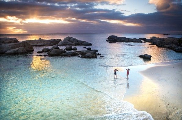 False Bay in Cape Town, South Africa...