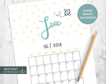 May 2018 Printable Calendar Dated Calendar Academic