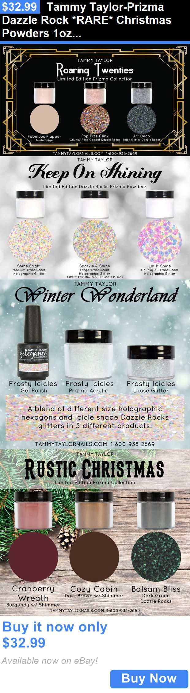 Nails: Tammy Taylor-Prizma Dazzle Rock *Rare* Christmas Powders 1Oz-Pick A Color BUY IT NOW ONLY: $32.99