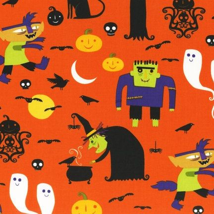 kaufman halloween fabric