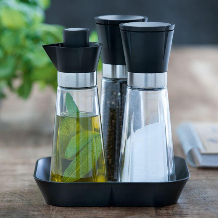 Rosendahl Grand Cru Set mit Salz- und Pfeffermühle und Öl/Essigflasche: Amazon.de: Küche & Haushalt