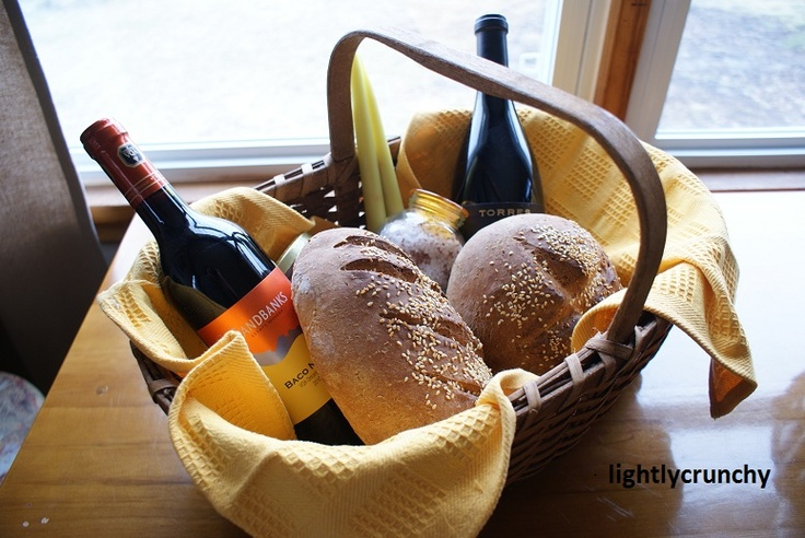 Housewarming Gift Basket with meaning of lots of ingredients