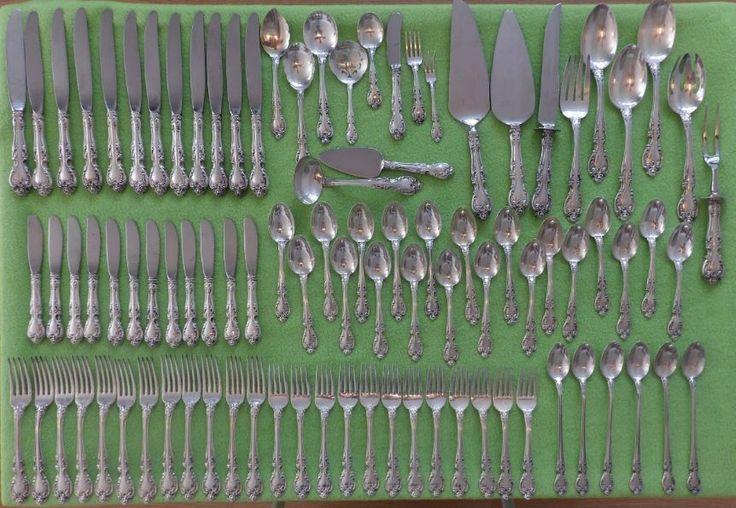 """Gorham Sterling Silver Flatware - """"Melrose"""" Design -12 setting Service - Antique #Gorham"""