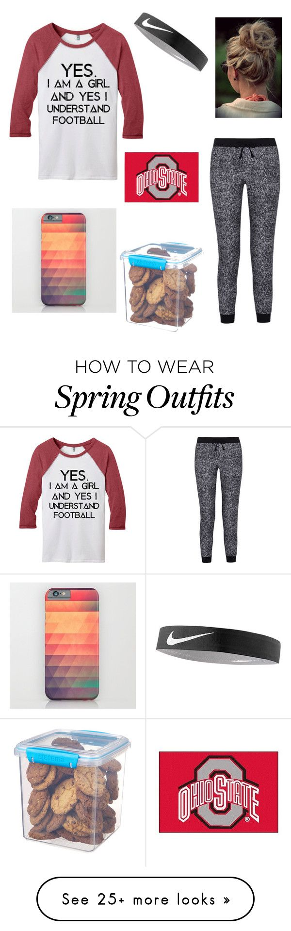 """""""Football Weekends"""" by gabrielamckenzieb on Polyvore featuring Splendid, NIKE, Sistema and FANMATS"""