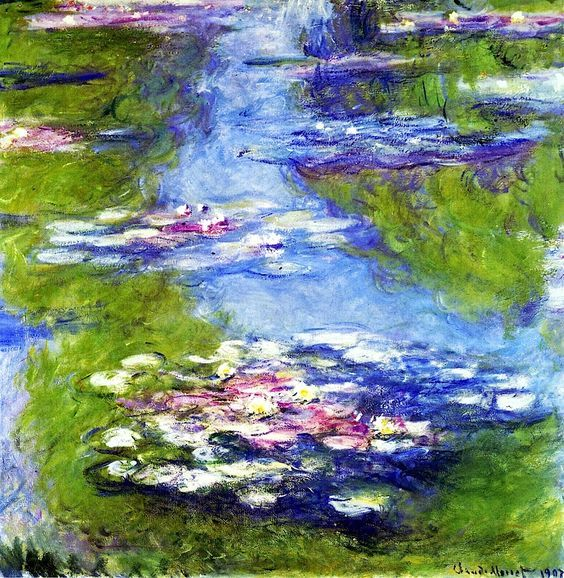 an art analysis of water lilies Water lilies became increasingly focused on the surface of the water over the years spent painting his beloved aquatic garden, monet moved closer and closer to it.